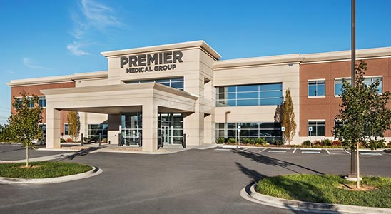 An aerial view of Premier Medical Group